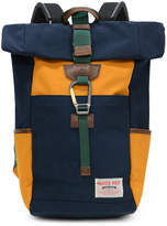 MASTERPIECE Link Roll Top Backpack Navy & Yellow