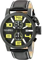 Haurex Italy Men's 3N506UYN TURBINA II Analog Display Quartz Black Watch