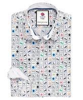 Thomas Pink Tomkins Print Slim Fit Button Cuff Shirt