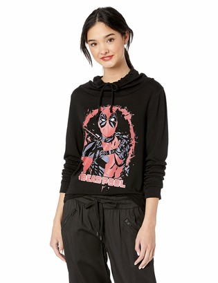 Marvel Black//Official Painted Deadpool Junior's Long Sleeved Cowl xx-Large