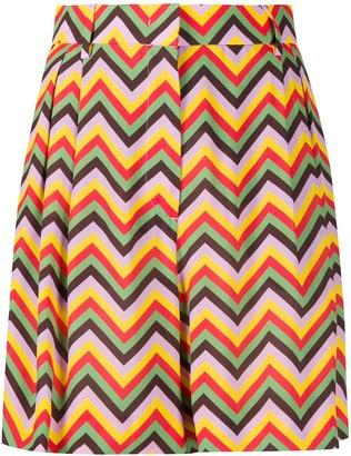 M Missoni Pleated Zig-Zag Shorts