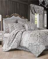 J Queen New York Bel Air 4-Pc. Silver Queen Comforter Set Bedding