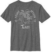 Fifth Sun Charcoal Heather 'Return to Tahiti' Crewneck Tee - Boys