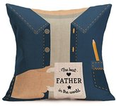 New Sale Happy Father's Day Cushion Cover,Highpot Vatious Letters&Cartoon Prints Square Throw Pillow Case Office Room Car Home Decor (V)