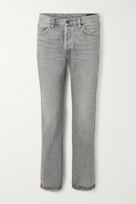 Gold Sign The Walcott Organic Distressed Straight-leg Jeans - Gray
