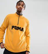 Puma Half Zip Borg Fleece In Yellow Exclusive to ASOS 57658302