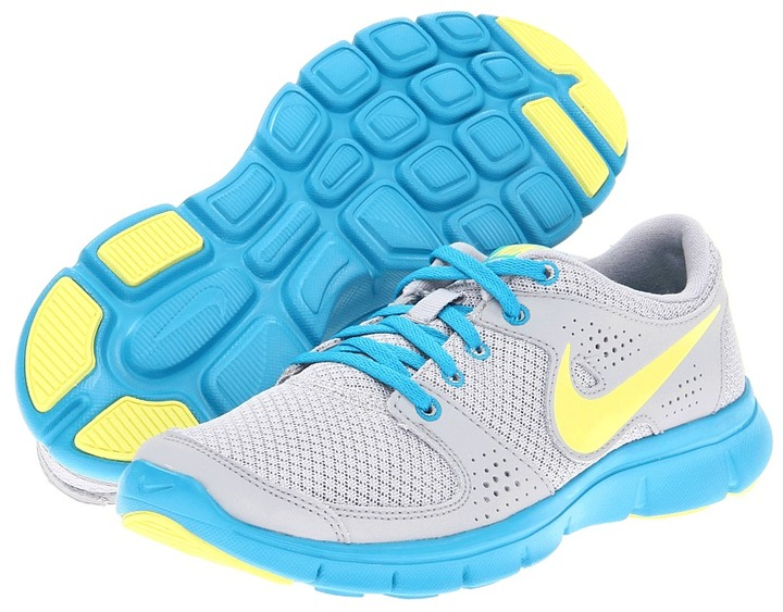 Nike Flex Experience Run (Wolf Grey/Digital Pink/Neo Turquoise/Metallic Silver) - Footwear
