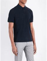 Armani Collezioni Spread Collar Cotton Polo Shirt