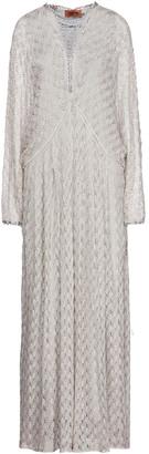 Missoni Lace-up Metallic Crochet-knit Maxi Dress