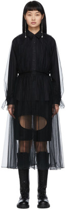 Noir Kei Ninomiya Black Tulle Shirt Dress