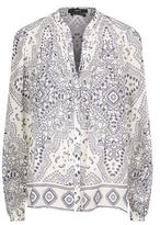 SET Paisley Print Collarless Shirt