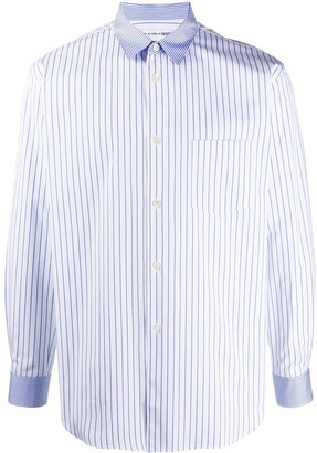 Comme des Garcons Striped Contrasting-Collar Shirt