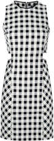 Rag & Bone gingham cut-out mini dress