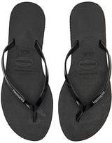 Havaianas You Metallic Sandal in Black. - size US 5/6/ BRZ 35-36 (also in US 7/8/ BRZ 37-38,US 9/10/ BRZ 39-40)