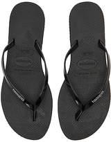Havaianas You Metallic Sandal in Black. - size US 5/6/ BRZ 35-36 (also in US 7/8/ BRZ 37-38,US 9/10/ BRZ 39-40)
