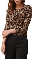 LK Bennett L.K.Bennett Nesta Leopard Wool Cardigan, Animal
