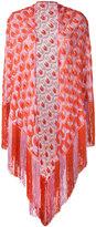 Missoni patterned tassel cape