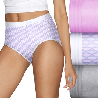 Hanes Women's Ultimate 3-pack ComfortBlend Stretch X-Temp Briefs
