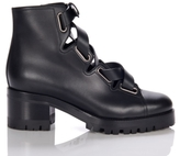 Valentino Lace-up Leather Combat Boots