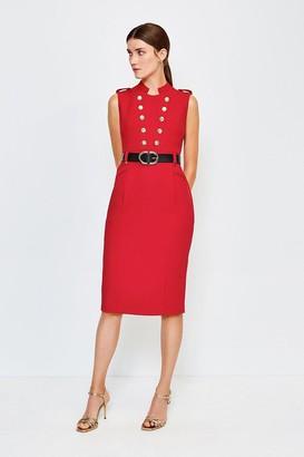 Karen Millen Tailored Button Military Dress