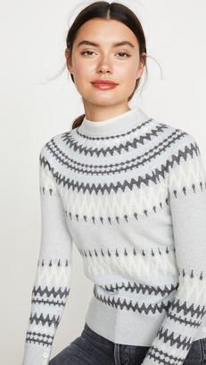 Adam Lippes Cashmere Fair Isle Crew Sweater