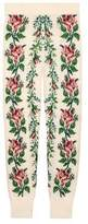 Gucci Intarsia flowers wool leggings