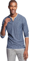 INC International Concepts Men's Popular Guy Long-Sleeve Split-Neck T-Shirt, Only at Macy's