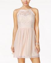 Speechless Juniors' Lace A-Line Dress