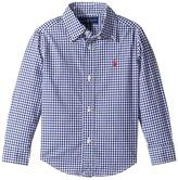 Polo Ralph Lauren Gingham Cotton Poplin Top Boy's Long Sleeve Button Up