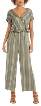 Style&Co. Style & Co Petite Printed Blouson Jumpsuit, Created for Macy's