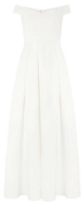 Dorothy Perkins Womens White Bridal 'Valentina' Maxi Dress, White