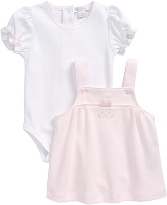 Kissy Kissy Bunny Hugs Romper & Pinafore Dress
