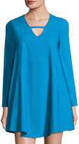 Lucca Couture Naomi A-Line Long-Sleeve Dress, Teal