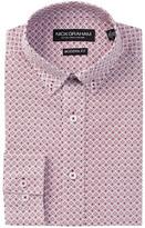 Nick Graham Long Sleeve Modern Fit Printed Dress Shirt