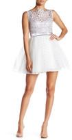 Trixxi Metallic Soutache Party Dress (Juniors)