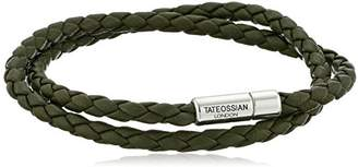 Tateossian Men's Scoubidou Pop Medium Double Leather Wrap Bracelet