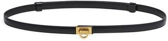 Salvatore Ferragamo Square Gancio Buckle Slim Leather Belt