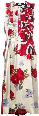 Simone Rocha Multi-Print Midi Dress