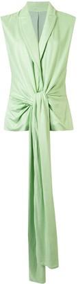 Cult Gaia Marion sleeveless blazer-style top