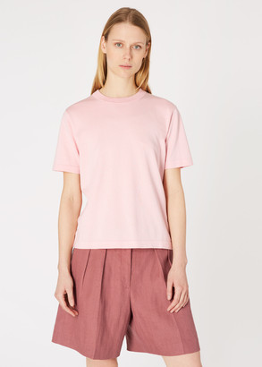 Paul Smith Women's Light Pink Short-Sleeve Cotton Sweater