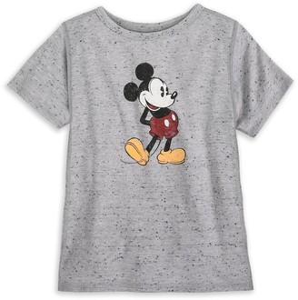 Disney Mickey Mouse Classic T-Shirt for Kids Gray Sensory Friendly