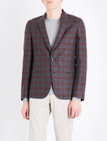 Paul Smith Mens Burgundy Checked Jacket