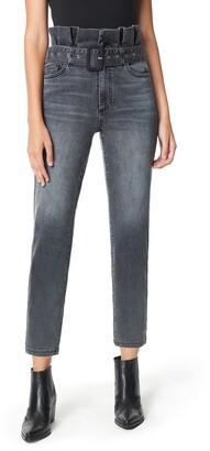 Sam Edelman The Dani Paperbag Straight Leg Ankle Jeans