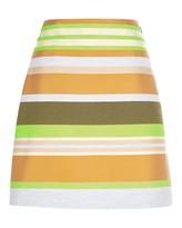 Jaeger Multi Stripe A-Line Skirt