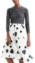 J.Crew Women's Heart Print Organza Skirt