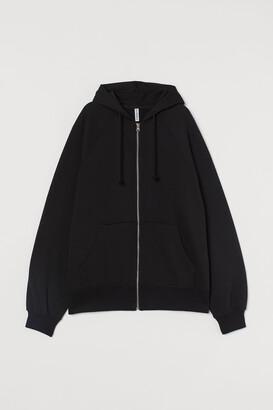 H&M Oversized zip-through hoodie