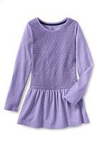 Classic Girls Plus Lace Leggings Top-Washed Iris Butterflies