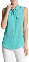 Equipment Sleeveless Signature Silk Shirt