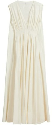 Co V-Neck Tucked Waist Gown