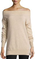 Magaschoni Cashmere Off-the-Shoulder Sweater